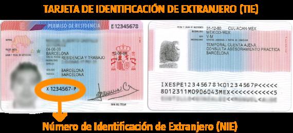 Tarjeta de Identidad Extranjero España duplicado TIE